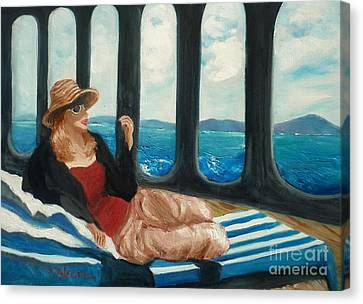The Sea Princess - Original Sold Canvas Print by Therese Alcorn