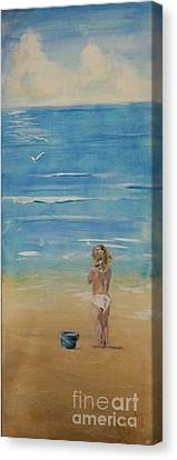 The Seagulls Canvas Print by Almeta LENNON
