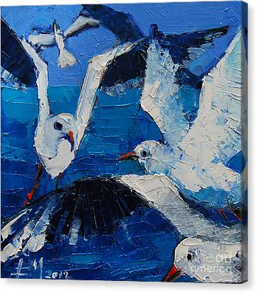The Seagulls Canvas Print by Mona Edulesco
