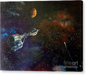 The Search For Earth Canvas Print by Murphy Elliott