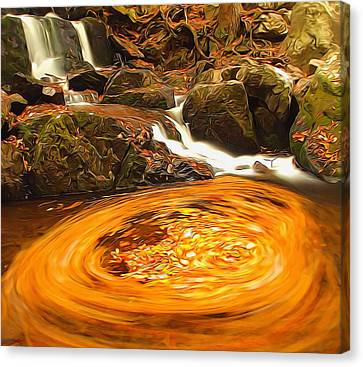 The Season Of Autumn Canvas Print by Dan Sproul