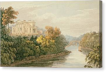 The Seat Of G.b. Greenough Esq Canvas Print