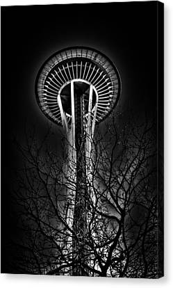 The Seattle Space Needle At Night Canvas Print