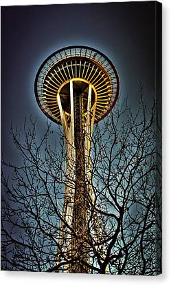 Monorail Canvas Print - The Seattle Space Needle Iv by David Patterson