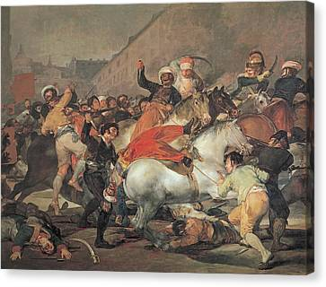 The Second Of May, 1808  The Riot Against The Mameluke Mercenaries Canvas Print by Francisco Jose de Goya y Lucientes