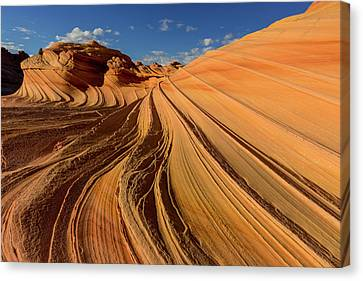 The Second Wave In The Vermillion Canvas Print by Chuck Haney