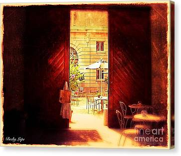 The Secret Courtyard  Canvas Print