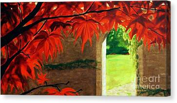 Canvas Print featuring the painting The Secret Garden by Janet McDonald