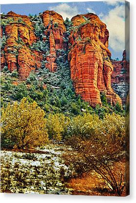 Canvas Print featuring the photograph The Secret Mountain Wilderness In Sedona Back Country by Bob and Nadine Johnston