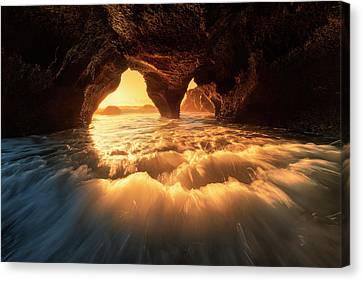 The Secret Sea Cave Canvas Print