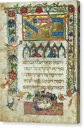 The Seder Canvas Print by British Library