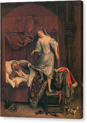 The Seduction Canvas Print by Jan Steen