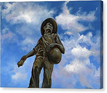 The Seed Sower Canvas Print by Linda Dunbar