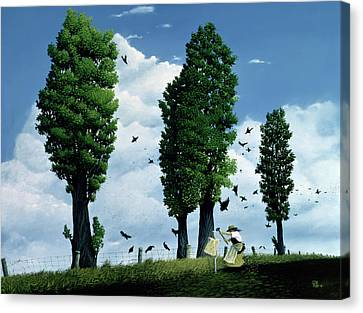 The Seeds Canvas Print by Stephane Poulin