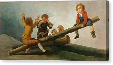The Seesaw Canvas Print by Francisco Jose de Goya y Lucientes