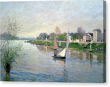 The Seine At Argenteuil Canvas Print by Alfred Sisley