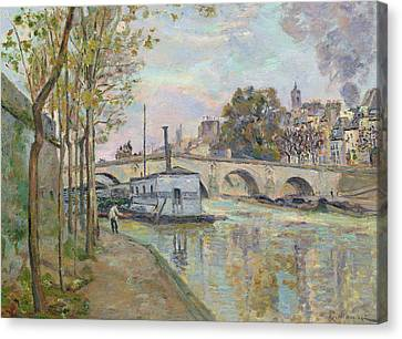 The Seine In Paris  Canvas Print by Jean Baptiste Armand Guillaumin