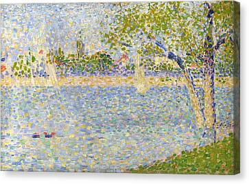 The Seine Seen From La Grande Jatte Canvas Print