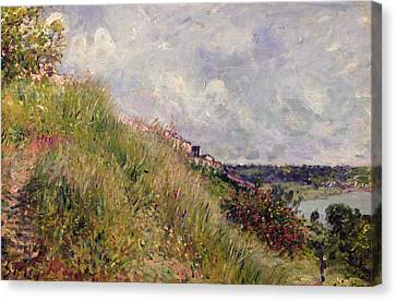 The Seine, View Of The Slopes Of By, 1881 Canvas Print by Alfred Sisley