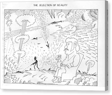 The Selection Of Reality Canvas Print by Saul Steinberg