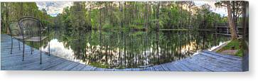 Dunnellon Canvas Print - The Serenity Of The Rainbow River by Wioletta Pietrzak