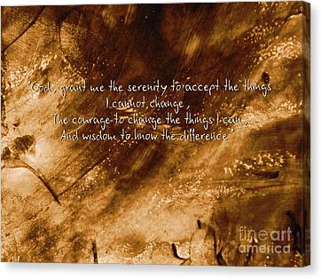 The Serenity Prayer 1 Canvas Print by Andrea Anderegg