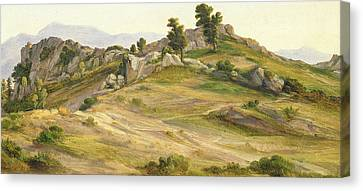 The Serpentara At Olevano Canvas Print by Joachim Faber