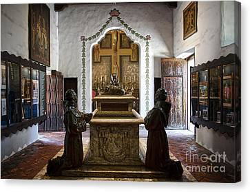 The Serra Cenotaph In Carmel Mission Canvas Print by RicardMN Photography