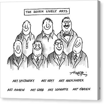 The Seven Lively Arts Canvas Print