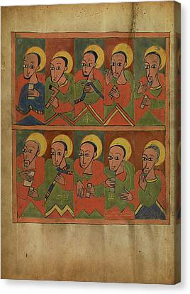 The Seventy-two Disciples Unknown Ethiopia Canvas Print by Litz Collection