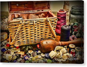 The Sewing Basket Canvas Print by Paul Ward