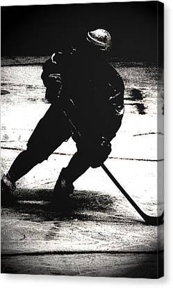 The Shadows Of Hockey Canvas Print by Karol Livote