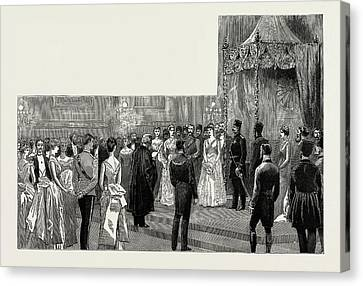 The Shah Of Persia In England, Uk, 1889 The Ball Canvas Print by Litz Collection
