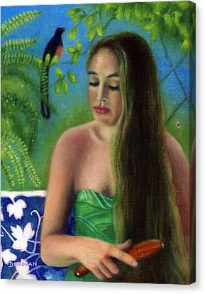 The Shama's Serenade Canvas Print by Deirdre Donovan