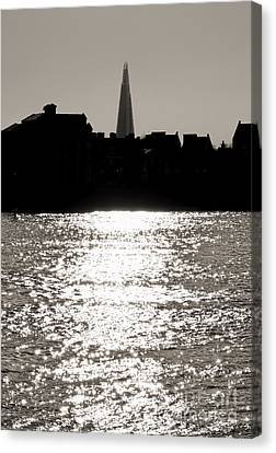 The Shard From Canary Wharf Canvas Print by Jasna Buncic