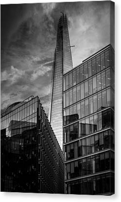 City Streets Canvas Print - The Shard London by Martin Newman