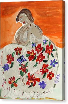 The Shawl Canvas Print by Mary Carol Williams