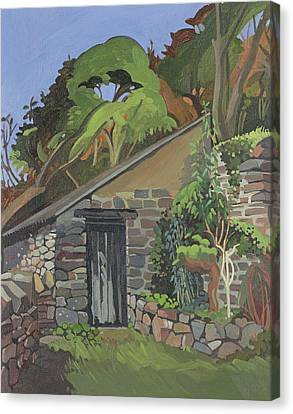 The Shed, Clovelly Oil On Board Canvas Print by Anna Teasdale