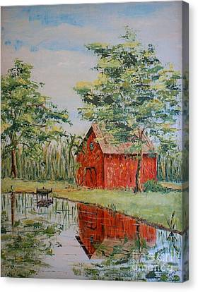The Shed - Sold Canvas Print by Judith Espinoza
