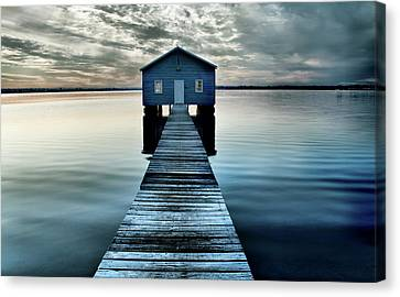 The Shed Upon The Water Canvas Print