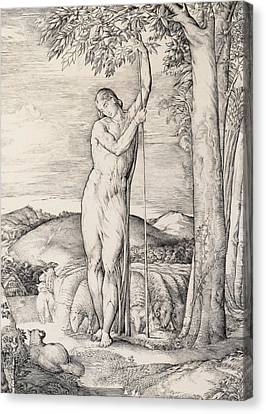 The Shepherd, 1828 Engraving Canvas Print