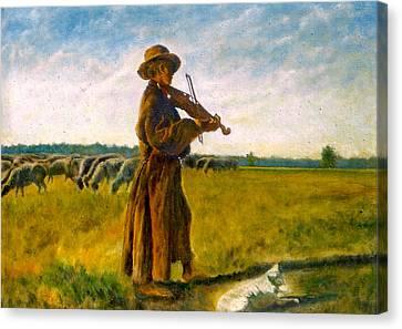 The Shepherd Canvas Print by Henryk Gorecki