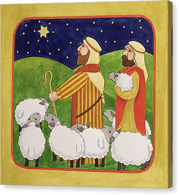Bethlehem Canvas Print - The Shepherds by Linda Benton