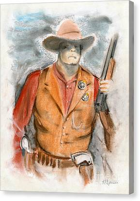 The Sheriff Canvas Print by Harry Speese