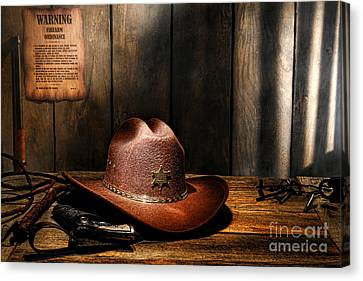Canvas Print featuring the photograph The Sheriff Office by Olivier Le Queinec