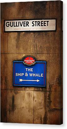 The Ship And Whale Canvas Print by Mark Rogan