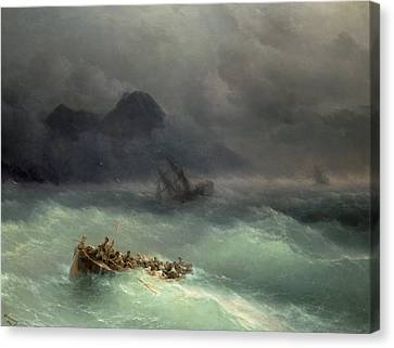 The Shipwreck Canvas Print by Ivan Konstantinovich Aivazovsky