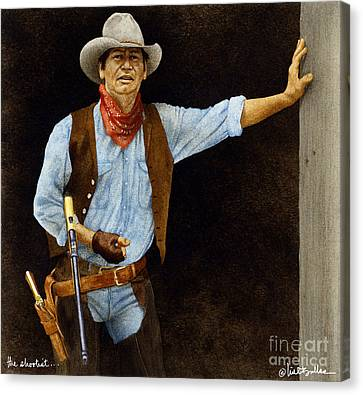 The Shootist... Canvas Print by Will Bullas