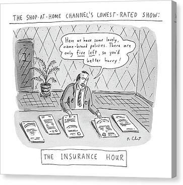 The Shop-at-home Channel's Lowest-rated Show: The Canvas Print by Roz Chast