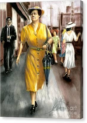The Shopper Canvas Print by Leah Wiedemer